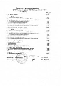 сведения о доходах и расходах за 2013 год